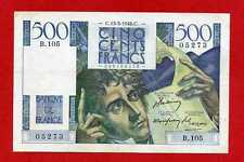 ( Ref: B.105) 500 FRANCS CHATEAUBRIAND 13/05/1948 (SUP-)