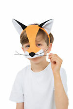 CHILD FOX HALF FACE MASK FANCY DRESS ANIMALS & NATURE ACCESSORY