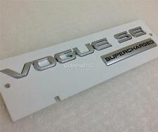 "NEW GENUINE RANGE ROVER ""VOGUE SE SUPERCHARGED"" BADGE*REAR BOOT BADGE*2013"