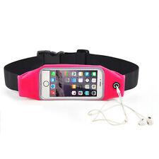 Rose For Phone Gym Running Jogging Sports Zipper Belt Soft Bum Waist Bag Case