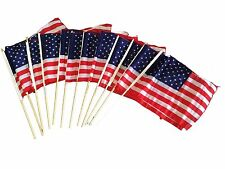 American Flags 7 X 10 inch on a Wood Stick, Pack of 144 (12 Dozen)
