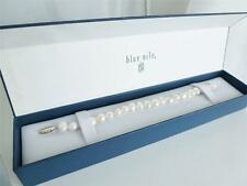 MINT IN BOX Real PEARL BRACELET 925 Sterling Silver Clasp Baroque Pearls Bangle