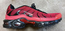Nike Air Max TN Plus Red with Black Size 9.5 Athletic Sneakers