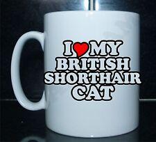 I LOVE/CUORE MY BRITISH SHORTHAIR GATTO Con Stampa Mug Regalo