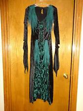 Green and Black Vampire Vixen Women's Halloween Costume Vampira Size Small