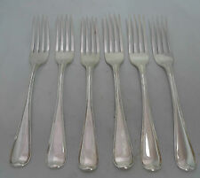 Six Old English Thread Silver Table Forks Chawner London 1808 427g 20cm