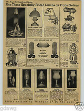 1938 PAPER AD Moderistic Lighthouse Sailboat Lamp Glass Radio Boudoir Lamps Desk