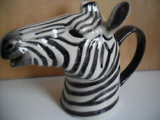 Fabulous Zebra  Ceramic Jug By Quail Pottery New And Boxed ideal gift