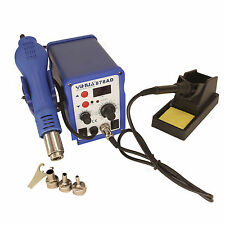 2in1 HFS SMD Soldering Rework Station 878AD Hot Air & Iron  ESD PLCC BGA OK