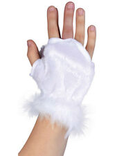 White Animal Kingdom Gloves Glovelets Paws Polar Bear Fancy Dress Bunny New Fur