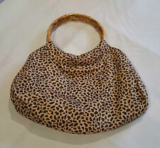 Bamboo Handle Leopard Print Bag Rockabilly Pinup Vintage Style L@@K @ Emporium44