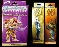 Wizkids Mage Knight Series 1 Rebellion Elemental League Army & 2 Booster Packs .