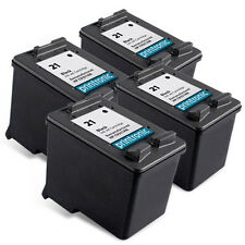 4pk Printronic For Hp 21 C9351AN Black Ink Cartridge