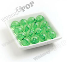 20mm 10pcs Green Transparent Bubble Gum Beads, Chunky, Acrylic, Round, Gumball
