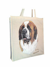 Saint Bernard Cotton Shopping Bag with Gusset for Xtra Space Perfect Gift