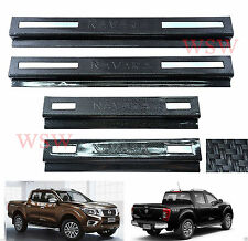 CARBON KEVLAR SCUFF PLATE SILL COVER FOR NISSAN NAVARA NP300 4 DOOR D23 2015 16