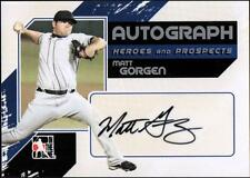 ET 2011 ITG Heroes and Prospects Full Body Autographs Silver #MGO Matt Gorgen