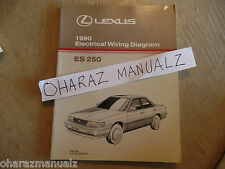 1990 LEXUS ES250 Electrical Wiring Diagram Service Manual OEM