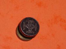 Pins Fleur de lys royale sur croix de scout !? Fabriqué par DECAT PARIS