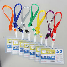 New Custom Lanyard ID(A2) Badge Card Key Holder Ring Case Pocket Neck Strap C