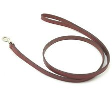"HAMILTON 4' x 1/2"" Creased Leather Dog Lead, Brown"