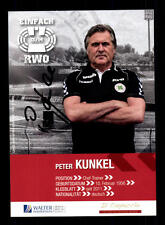 Peter Kunkel autografiada mapa rojo Weiss Oberhausen 2013-14 original + a 144756