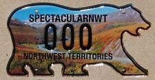 NORTHWEST TERRITORIES Canada Sample License Plate NWT Dempster Hwy