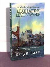 signed by author, John Rawlings 3:Death at the Devil's Tavern by Deryn Lake, TPB
