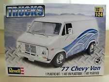 REVELL - TRUCKS - (1977) '77 CHEVY G-10 VAN - MODEL KIT (OPENED)