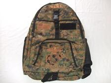 USMC MARINES BACKPACK DAY PACK  BOOK COMPUTER  BAG DIGI CAMO 2  EMBROIDERED
