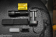G700 Flashlight LED CREE XM-L2 USA Tactical Zoom 2 Battery 26650 X800 Shadowhawk