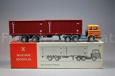 U550 Wiking modelle Mercedes steel stahl ho camion container CTI 524 boite 7686
