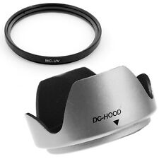55mm Thumb Drive Lens Hood,UV Filter fits for Kodak EasyShare Z740 Z710 Z650 Cam