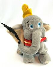 Walt Disney World Bean Bag Plush DUMBO Flying Elephant w/ Feather Souvenir