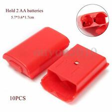 10Pcs Battery Pack Cover Shell Case Replacement For Xbox 360 Wireless Controller