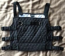 BLACK Top Vest CYBER GOTH INDUSTRIAL RIVET HEAD EBM DEMENTIA Clothing RARE