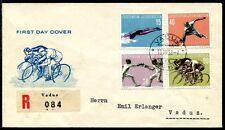 Liechtenstein 1958 365-368 FDC SPORT frase R Lettera (j6558