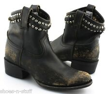 S - Women's FRYE 'Diana' Cut & Studded Short Boots US 7 - B (Black)
