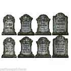 4 Halloween Cemetery GRAVEYARD TOMBSTONE Diecut CUTOUTS Party Decorations