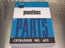 CANADIAN PONTIAC MASTER PARTS CATALOG 58-65 early print