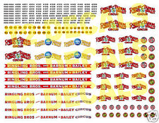 HO Scale Ringling Bros. Barnum & Baile Circus Wagon Decals- HUGE 8.5 X 11 SHEET!