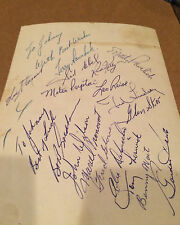 DETROIT RED WINGS 53/54 STANLRY CUP WINNING NHL TEAM AUTOS SAWCHUK,HOWE, ABEL,