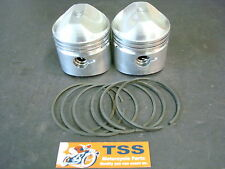 501/06T TRIUMPH 500 PISTON SET W/ RINGS .060 68-ON EMGO JCC PISTONS PAIR