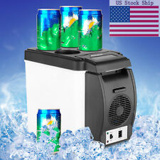 12V 6L Car Mini Fridge Portable Thermoelectric Cooler&Warmer Travel Refrigerator