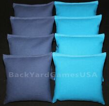 ALL WEATHER CORNHOLE BEAN BAGS Blue & Turquoise Resin Filled WATERPROOF