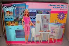 Barbie: Living in Style Kitchen Playset -New in Box