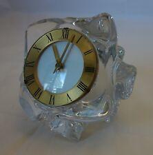 Pendulette décorative HOUR LAVIGNE dans son bloc de cristal SCHNEIDER / Clock