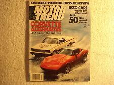 Motor Trend 1979 July Corvette GMC Diablo VW Chevette Mazda Fiat Aston Martin