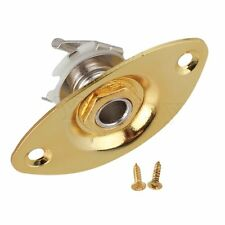 Gold Oval Indented Electric Guitar Output Jack Plate