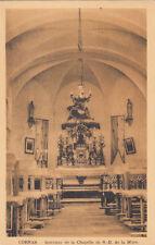 CORNAS intérieur de la chapelle de notre-dame de la mûre timbrée 1941
